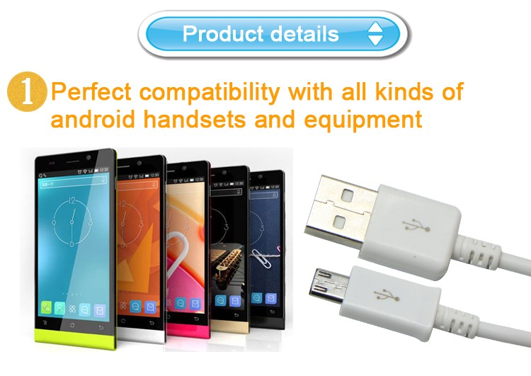 3ft best price super flexible micro usb data cable for andriod