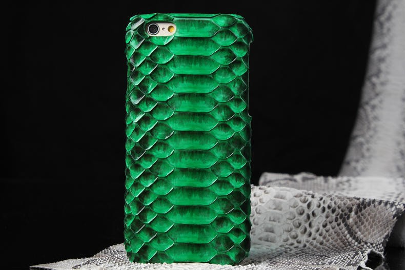 Genuine Real Anaconda Python Snake Skin Leather Phone Cover Case For iPhone Original Cell Phones Bag Case