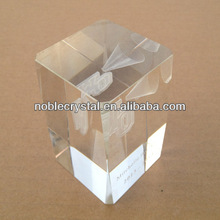 3d Laser Engraved Basketball Cheer Crystal Cube