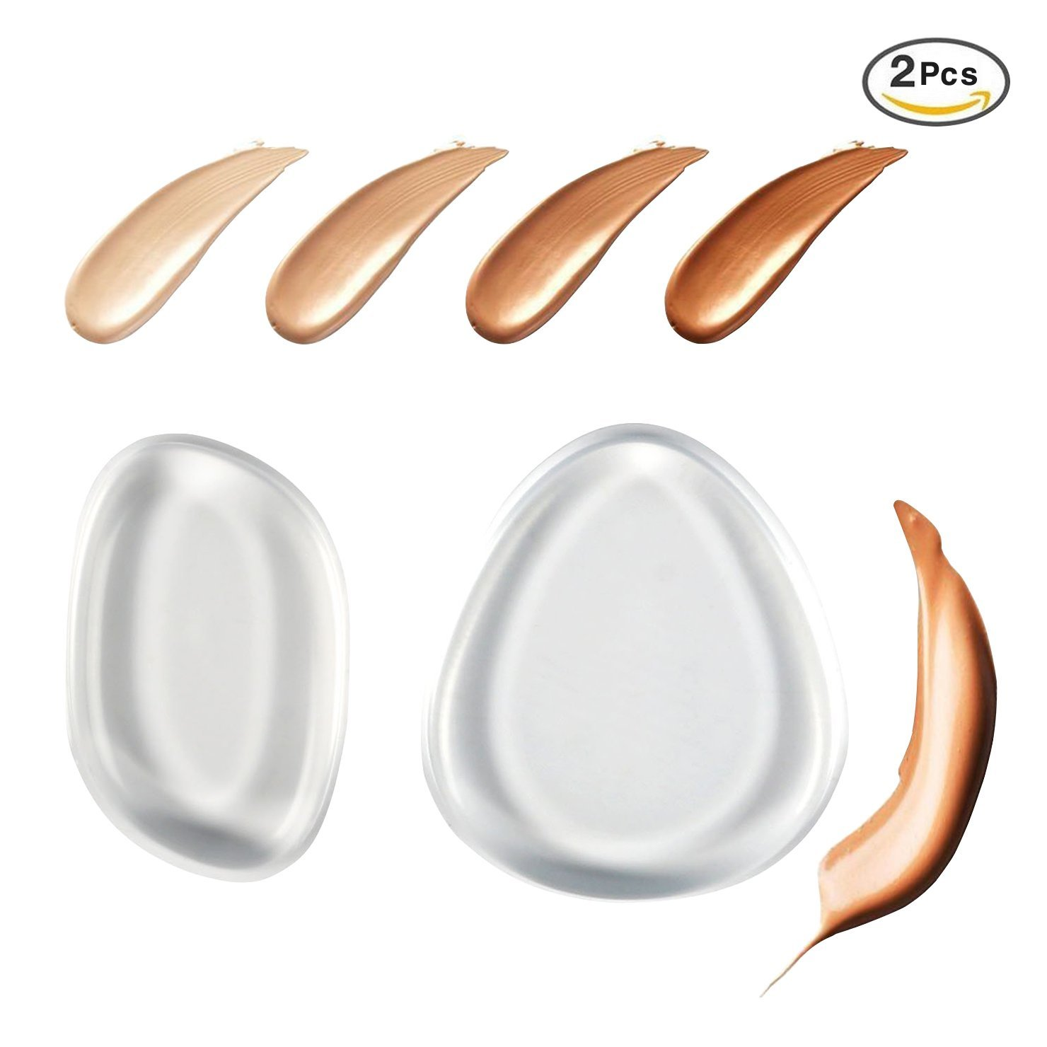 Beauty Essentials Cheap Sale Silicone Sponge Makeup Puff Liquid Bb Cc Cream Makeup Puff Foundation Base Cosmetics Clear Silisponge Silicone Gel Sponge Puffs