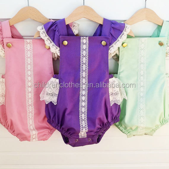 Wholesale Baby Clothes Baby Vintage Romper Fancy Lace Girl Bubble Romper