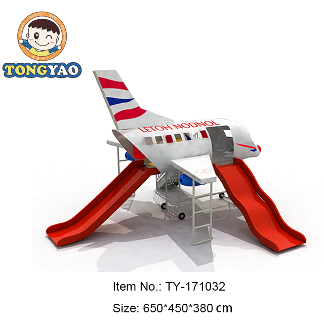 Fiber Glass Air plane outdoor playground equipment for kids