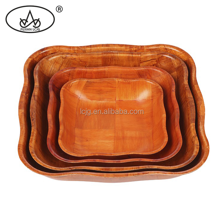 High quality stock eco-friendly teak root wood bowl