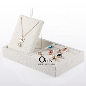 Oirlv Fashion unique line wooden Holder Multifunctional jewelry trays for earring pendant bangle bracelet necklace display