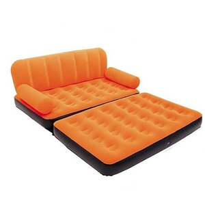 Cheap retail inflatable living room air bed single sofa bed flocking