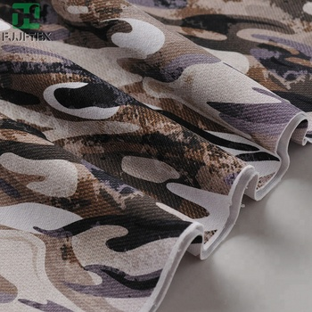 85 nylon 15 spandex camouflage printing full dull tracksuit fabric