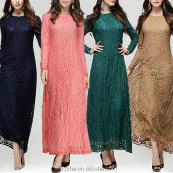 Pictures Of Lace Baju Kurung Fashion Design Muslim Dress For Women ...