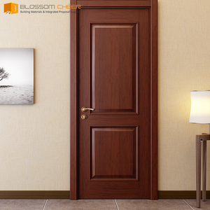 2018 new design durable natural wooden door bali solid birch wood doors interior