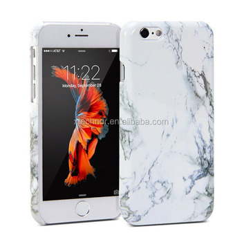 Mobile Cover For iphone 6 Hard Rubber Slim Case Cover White Marble Pattern For Iphone 6 White Marble Cases