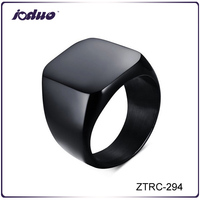 Black Men Stainless Steel Finger Ring ZTRC-294