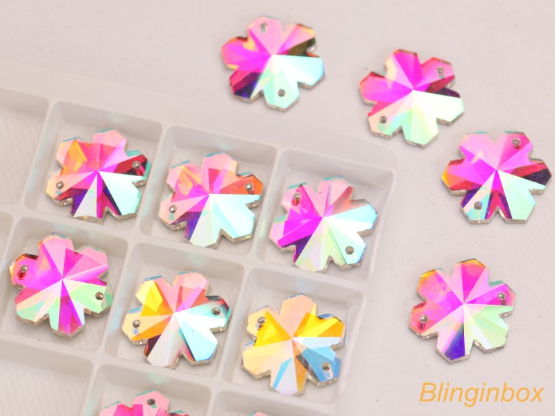 High quality wholesale sew on rhinestones crystal ab flatback