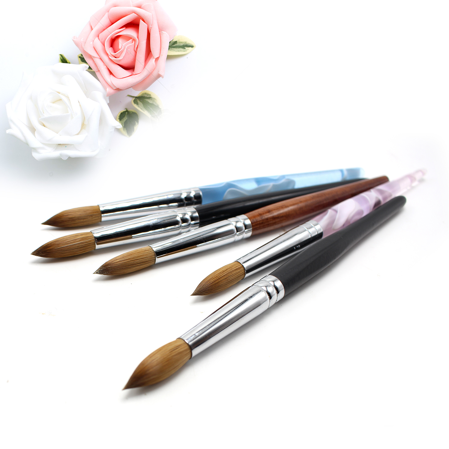 Wood Handle Kolinsky Sable Hair Acrylic Nail brush Set