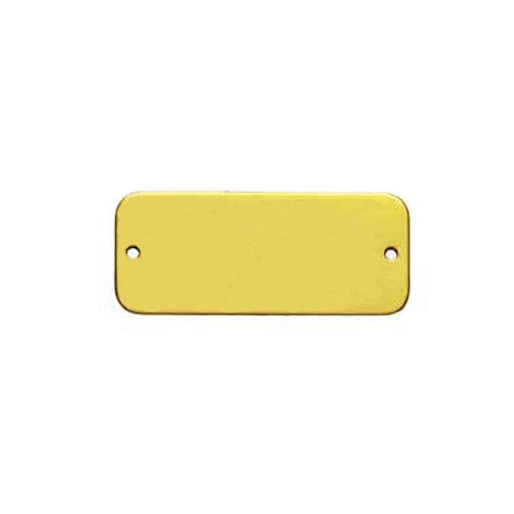 Оптовая полированная латунь прямоугольник пустой тег/пластина/этикетка с отверстием