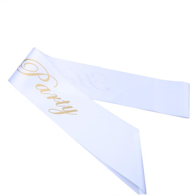 2019 Gold Flash Letter Printing White Satin Bride Sash Hens Party Bride To Be Sash