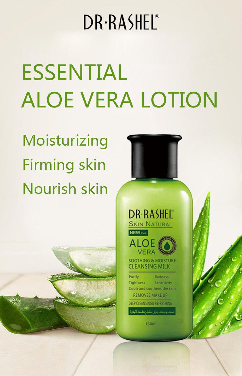DR.RASHEL 160 ml Sooth Moisture Cleansing Milk Purify Tightness Deep Cleansing Refreshing Aloe Vera Makeup Remover