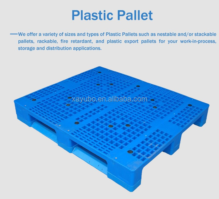 Single face 6T capacity 1200*1000 bulit-in cross steel plastic pallet
