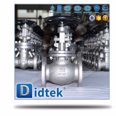 Didtek ANS/API600 Reliable Supplier Oil and Gas 300lb cf3m cast stainless steel hand wheel steel flanged connection globe valves