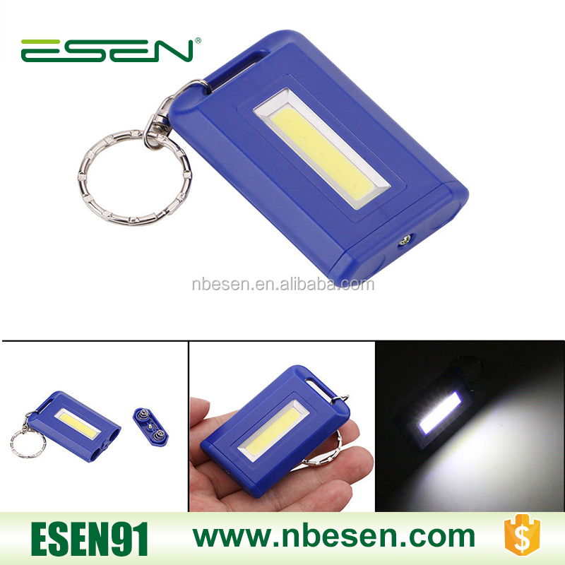 Mini COB LED Portable Flashlight Utility Camping Keychain Torch Light Lamp