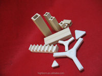 high strength white/yellow cordierite ceramic part for kiln furnture