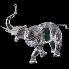 Wholesale Hot Sell Intricate Clear Crystal Elephant Fiturine Crystal Animal Figurines For Promotional Decoration