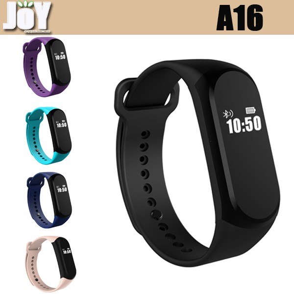 Hot Sale A16 0.42inch bluetooth smart bracelet Dynamic Heart Rate Monitor smart Wristband supports IOS Android