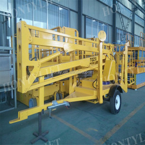 hydraulic telescopic ladder trailer boom lift