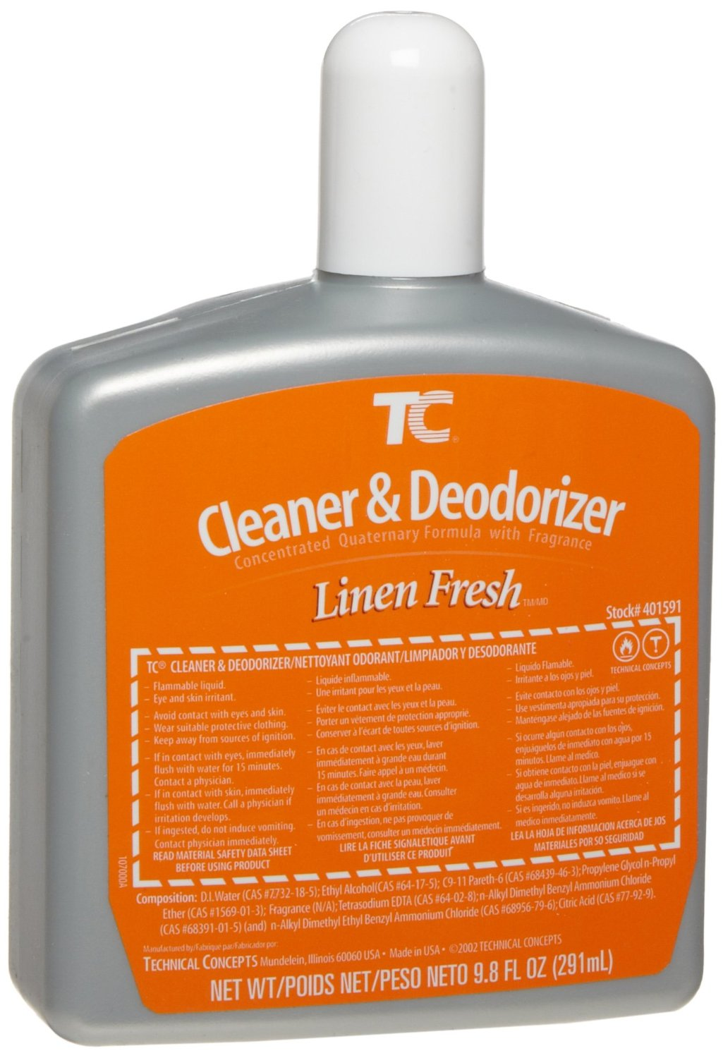 Rubbermaid Commercial FG401591 Cleaner and Deodorizer Refill for Auto Janitor Toilet and Urinal Cleaning Systems, Linen Fresh