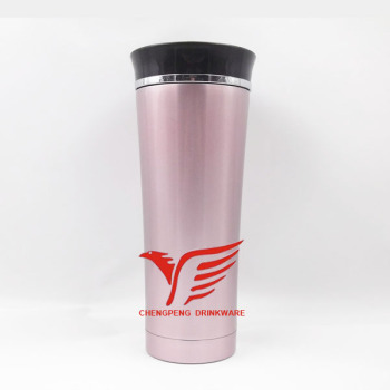 Wholesale stainless steel vacuum cup 17oz tumbler with plastic lid