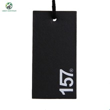 Wholesale custom thick black card hang tag for clothing