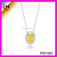 TOP END WORKMANSHIP YELLOW QUARTZ FOREVER PENDANT QUARTZ CRYSTAL PENDANT FOR FRIENDS