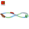 diy electric toy glow bend track set wholesale model train for kids