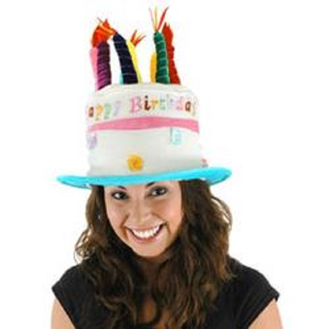 Light Up Birthday Cake Plush Velvet Novelty Party Hat