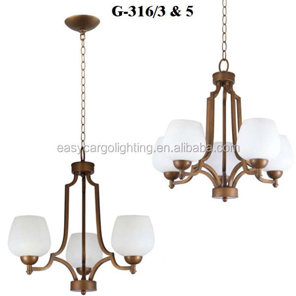 hot sale chandeliers bronze colored,American Style Antique Baking Finish Chandelier & Pendant Lights(G-316/5P & 3P)