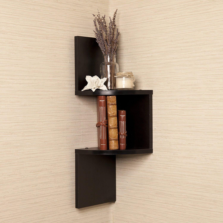 Mercury Row Corner Wall Shelf In Black Shelves