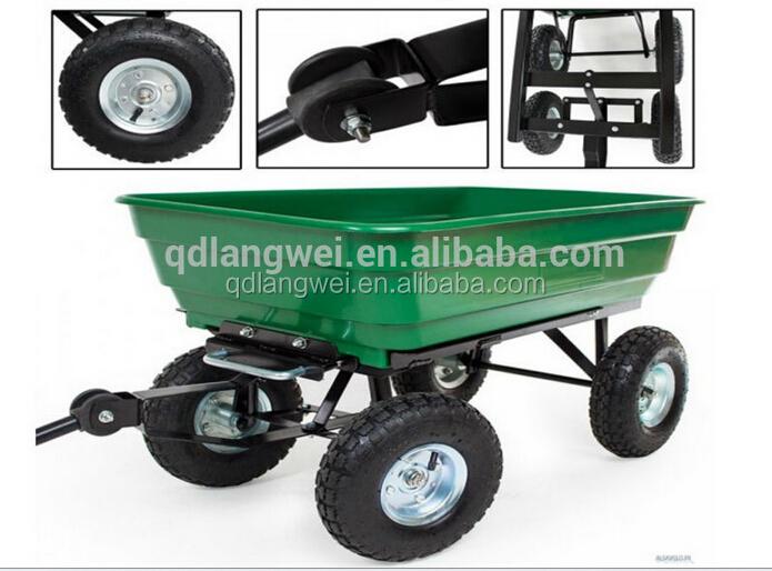 Tracteur Tiré Cour Panier Jardin Wagon Remorque Pelouse Benne ...