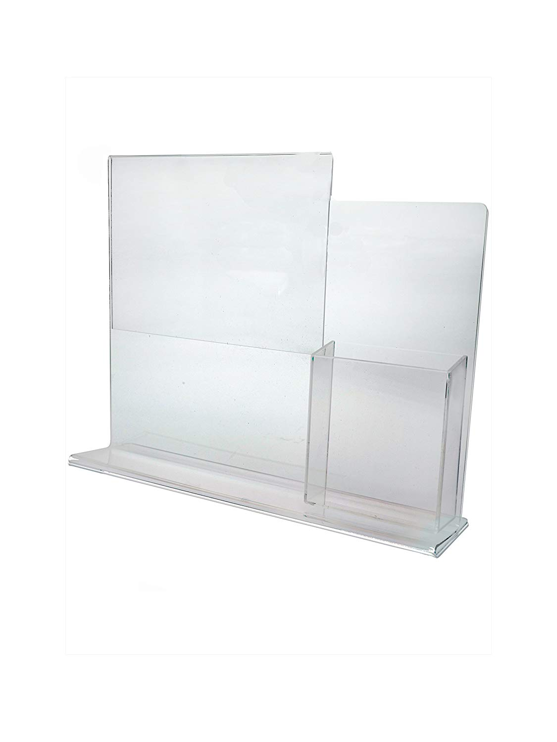 """Marketing Holders 8.5"""" x 11"""" Combo Ad Frame with attached Tri-Fold Brochure Holder"""