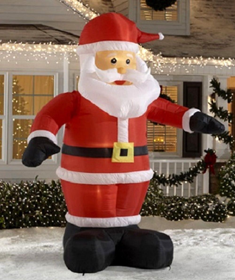Wholesale lowes outdoor inflatable sitting santa claus