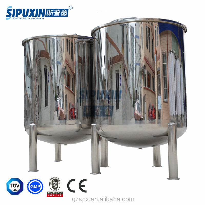 SIPUXIN factory price 3000 L stainless steel 304 buffer storage tank
