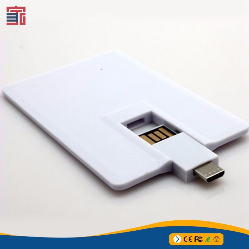 Credit Card shaped i-easy use android micro 16GB Mini USB OTG flash drive