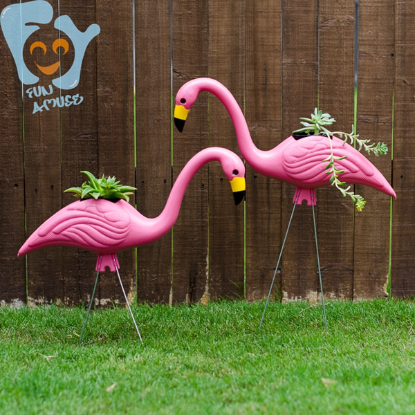 Whole Cool Pink Flamingo Garden Ornaments