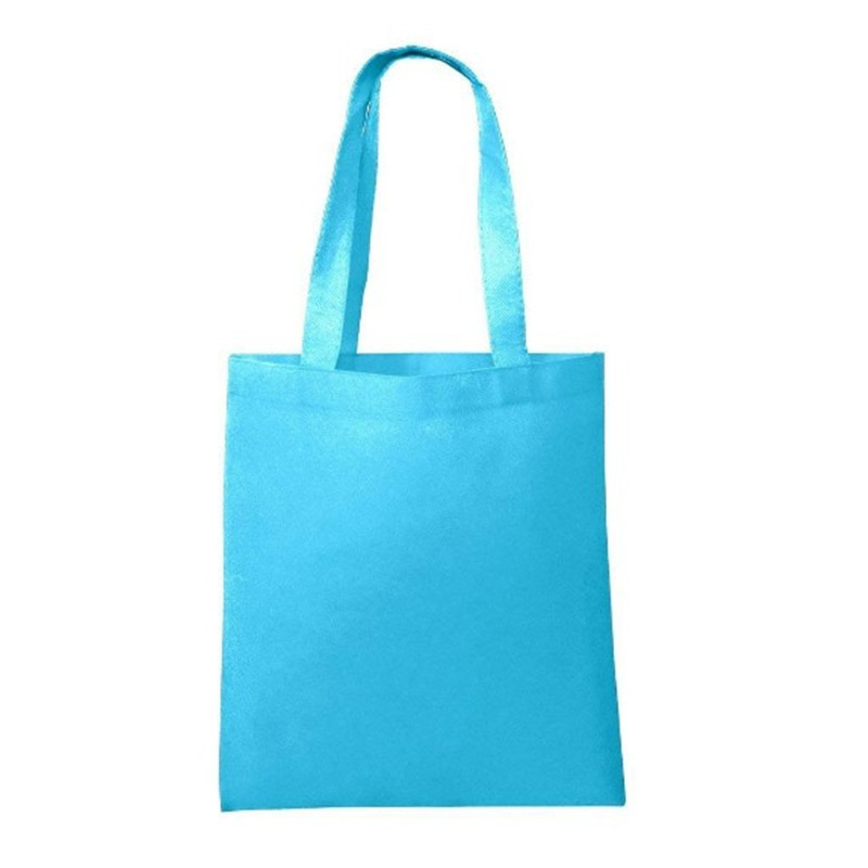 Promo customized wholesale 100% recycled non-woven tote shopping bags