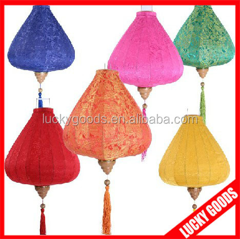 wholesale 100% Jacquard silk fabric holiday lantern in various colors