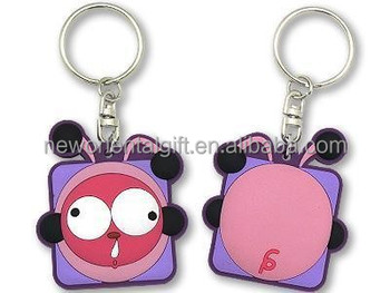 2D soft PVC keychain cheap bulk 3D rubber key rings plastic keychain