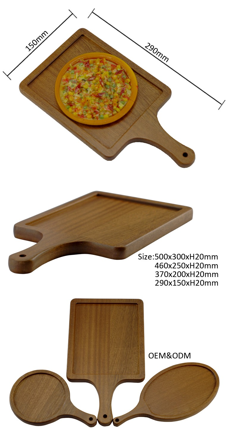 Eco-friendly China Supplier Acacia Wood Plate,Pizza Serving Plate ...