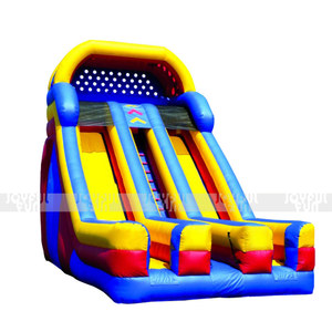 Plastic Cheap Kids Inflatable dry Slide Inflatable indoor park Slide one up two down for Sale