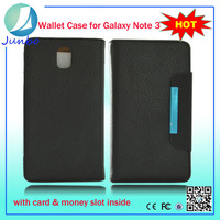 Genuine fancy smart leather cover wallet case for samsung galaxy gio