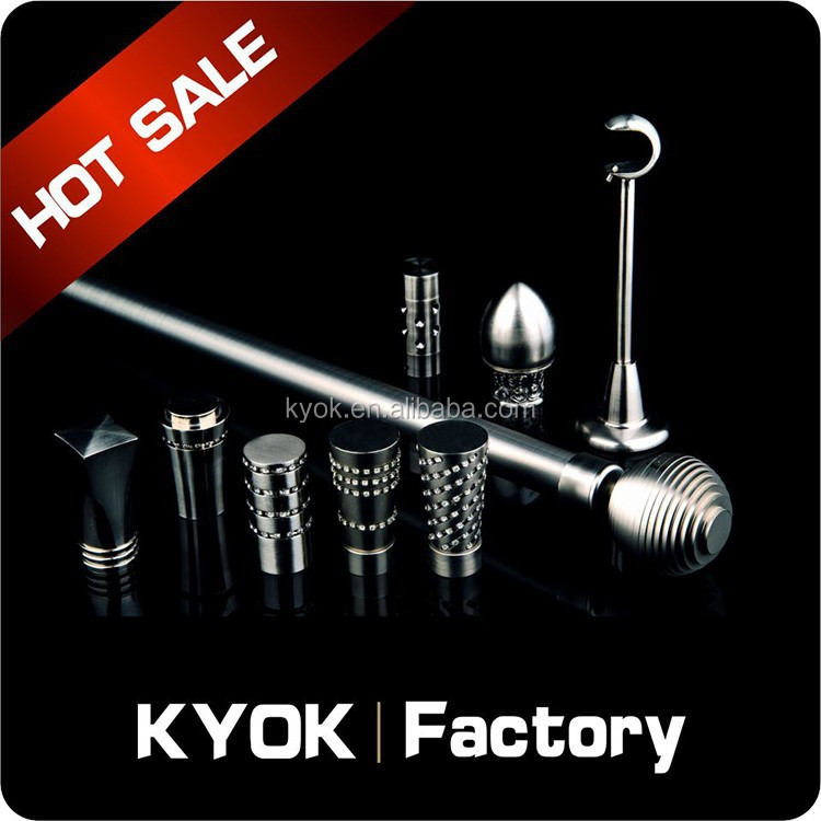 KYOK steel aluminum rod,cast iron curtain rod decorative curtain rods,ceiling aluminum curtain track in China