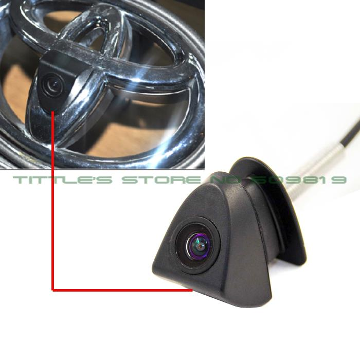 100% IP68 Waterproof 170 Degree 480 TVL HD ccd Color Toyota Logo mark Camera  for Front View