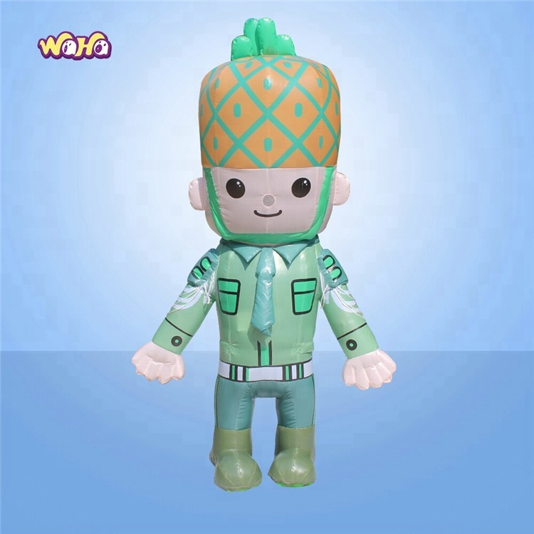 Best selling opblaasbare ananas fruit mascotte