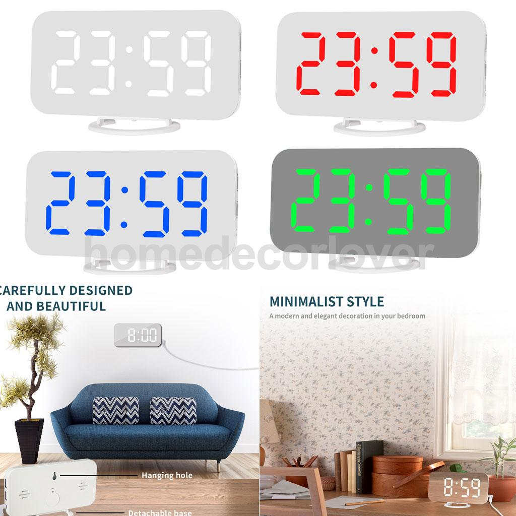 Led Display Modern Projection Led Clock Electronic Desktop Alarm Clock Digital Table Clocks Snooze Function Fixing Prices According To Quality Of Products Home & Garden